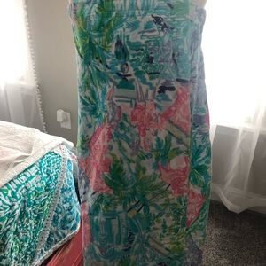 Lilly Pulitzer towel wrap and hangers